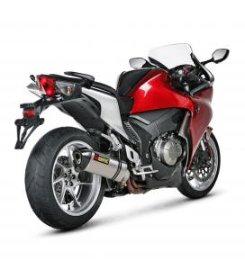 Akrapovic Honda Vfr 1200 F Terminale Di Scarico Slip-On Line Titanio Moto Omologato
