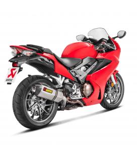 Akrapovic Honda Vfr 800 F 17 2019 Terminale Di Scarico Slip-On Line Titanio Moto Omologato