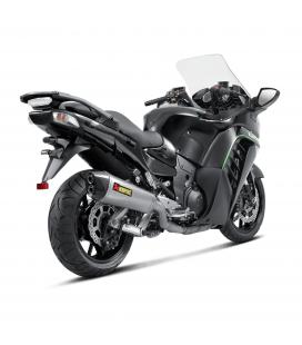 Akrapovic Kawasaki 1400 Gtr Terminale Di Scarico Slip-On Line Titanio Moto Omologato
