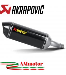 Akrapovic Kawasaki Ninja 250 R Terminale Di Scarico Slip-On Line Carbonio Moto