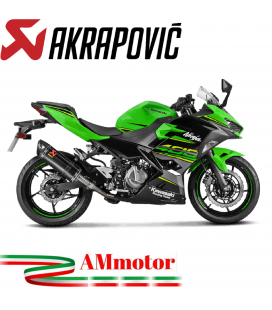 Akrapovic Kawasaki Ninja 400 Terminale Di Scarico Slip-On Line Carbonio Moto