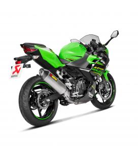 Akrapovic Kawasaki Ninja 400 Terminale Di Scarico Slip-On Line Titanio Moto Omologato