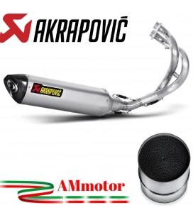 Akrapovic Kawasaki Ninja 650 12 2016 Impianto Di Scarico Completo Racing Line Terminale Titanio Moto