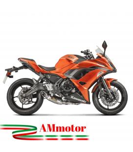 Akrapovic Kawasaki Ninja 650 17 2019 Impianto Di Scarico Completo Racing Line Terminale Titanio Moto