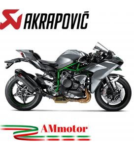 Akrapovic Kawasaki Ninja H2 Terminale Di Scarico Slip-On Line Carbonio Moto