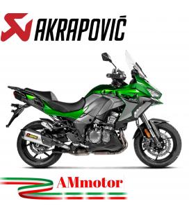 Akrapovic Kawasaki Versys 1000 Terminale Di Scarico Slip-On Line Titanio Moto Omologato