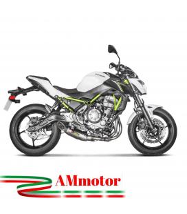 Akrapovic Kawasaki Z 650 17 - 2019 Impianto Di Scarico Completo Racing Line Terminale Titanio Moto