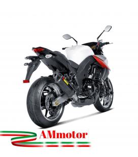 Akrapovic Kawasaki Z 1000 10 2013 Impianto Di Scarico Completo Racing Line Terminale Carbonio Moto