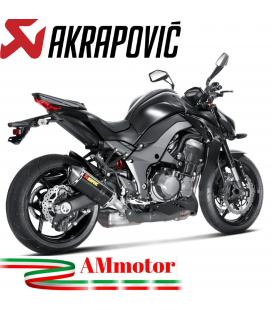 Akrapovic Kawasaki Z 1000 14 2016 Terminali Di Scarico Slip-On Line Carbonio Moto Omologato