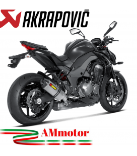 Akrapovic Kawasaki Z 1000 14 2016 Terminali Di Scarico Slip-On Line Titanio Moto Omologato