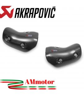 Kit Paracalore Akrapovic In Fibra Di Carbonio Per Kawasaki Z 1000 Moto