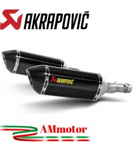 Akrapovic Kawasaki Z 1000 Sx 10 2013 Terminali Di Scarico Slip-On Line Carbonio Moto Omologato
