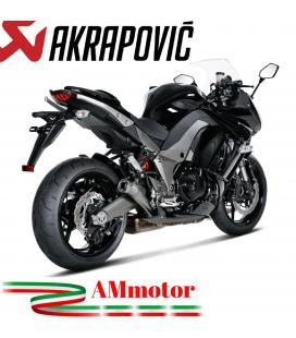 Akrapovic Kawasaki Z 1000 Sx 10 2013 Terminali Di Scarico Slip-On Line Megaphone Titanio Moto