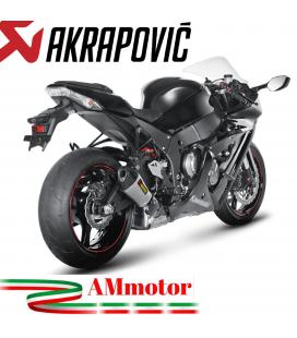 Akrapovic Kawasaki Ninja Zx-10 R 11 2015 Terminale Di Scarico Slip-On Line Titanio Moto Omologato