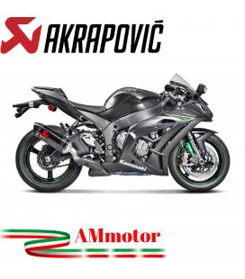 Akrapovic Kawasaki Ninja Zx-10 R 16 2019 Terminale Di Scarico Slip-On Line Carbonio Moto Omologato
