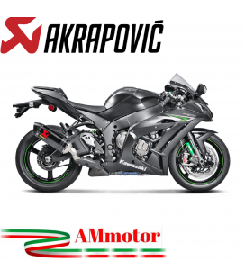 Akrapovic Kawasaki Ninja Zx-10 R 16 2020 Terminale Di Scarico Slip-On Line Carbonio Moto Omologato