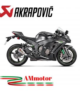 Akrapovic Kawasaki Ninja Zx-10 R 16 2020 Terminale Di Scarico Slip-On Line Titanio Moto
