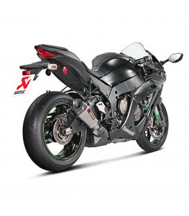 Akrapovic Kawasaki Ninja Zx-10 R 16 2019 Terminale Di Scarico Slip-On Line Titanio Moto