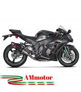 Akrapovic Kawasaki Zx-10 R Impianto Di Scarico Completo Racing Line Terminale Carbonio Moto