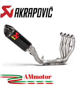 Akrapovic Kawasaki Zx-10 R Impianto Di Scarico Completo Evolution Line Terminale Collettori Titanio Moto