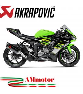 Akrapovic Kawasaki Ninja Zx-6 R 09 2019 Terminale Di Scarico Slip-On Line Carbonio Moto