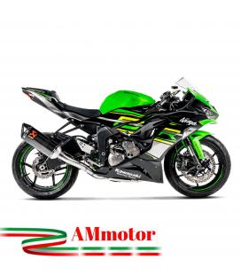 Akrapovic Kawasaki Zx-6 R Impianto Di Scarico Completo Racing Line Terminale Carbonio Moto