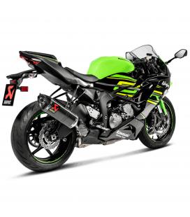 Akrapovic Kawasaki Ninja Zx-6 R 09 2019 Terminale Di Scarico Slip-On Line Carbonio Moto Omologato