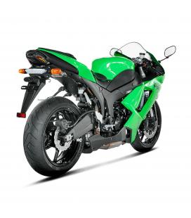 Akrapovic Kawasaki Ninja Zx-6 R 636 07 2008 Terminale Di Scarico Slip-On Line Titanio Moto Omologato