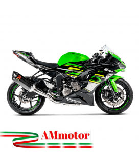 Akrapovic Kawasaki Zx-6 R 636 Impianto Di Scarico Completo Racing Line Terminale Carbonio Moto