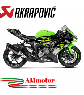 Akrapovic Kawasaki Ninja Zx-6 R 636 Terminale Di Scarico Slip-On Line Carbonio Moto