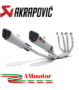 Akrapovic Kawasaki ZZR 1400 / Zx-14 R Impianto Di Scarico Completo Racing Line Terminali Titanio Moto