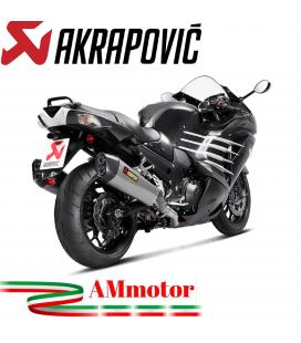 Akrapovic Kawasaki Zzr 1400 / Zx-14 R Terminali Di Scarico Slip-On Line Titanio Moto