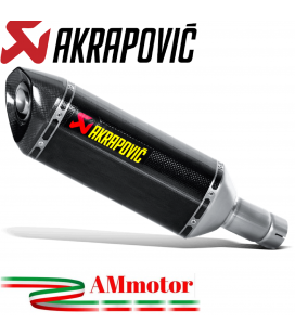 Akrapovic Suzuki Gsx-R 1000 12 2016 Terminale Di Scarico Slip-On Line Carbonio Moto Omologato