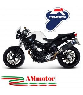 Terminale Di Scarico Termignoni Bmw F 800 R Marmitta Oval Inox Carbon Look Moto Omologato