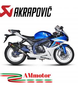 Akrapovic Suzuki Gsx-R 600 11 2017 Terminale Di Scarico Slip-On Line Carbonio Moto Omologato