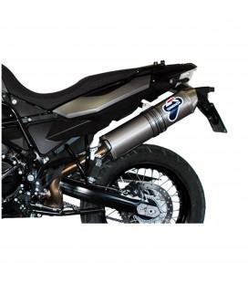 Terminale Di Scarico Termignoni Bmw F 800 Gs / Adventure Marmitta Oval Inox Carbon Look Moto Omologato