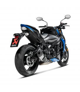 Akrapovic Suzuki Gsx-S 1000 / F Terminale Di Scarico Slip-On Line Titanio Race Moto Omologato