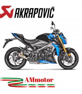 Akrapovic Suzuki Gsx-S 1000 / F Terminale Di Scarico Slip-On Line Titanio Moto Omologato