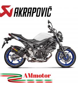 Akrapovic Suzuki Sv 650 Terminale Di Scarico Slip-On Line Carbonio Moto Omologato