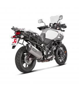 Akrapovic Suzuki V-Strom 1000 Terminale Di Scarico Slip-On Line Titanio Moto Omologato