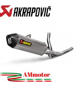 Akrapovic Suzuki V-Strom 650 Impianto Di Scarico Completo Racing Line Terminale Carbonio Moto