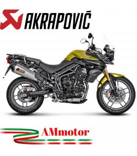 Akrapovic Triumph Tiger 800 Xc Xr Xrx Xcx Xrt Xca 11 2016 Terminale Di Scarico Slip-On Line Titanio Moto Omologato