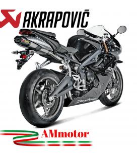 Akrapovic Triumph Daytona 675 R Terminale Di Scarico Slip-On Line Titanio Moto Omologato
