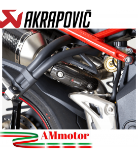 Paracalore Akrapovic In Fibra Di Carbonio Per Triumph Speed Triple 1050 Moto