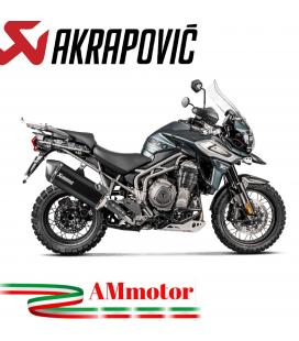 Akrapovic Triumph Tiger 1200 Xr Xrx Xrt Xcx Xca Terminale Di Scarico Slip-On Line Titanio Black Moto Omologato
