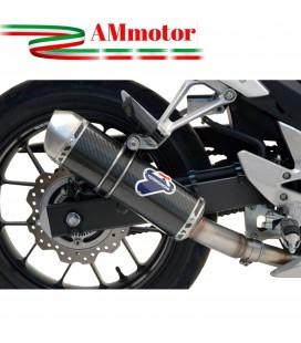 Terminale Di Scarico Termignoni Honda Cbr 500 Marmitta Relevance Inox Carbonio Moto Omologato