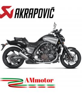 Akrapovic Yamaha Vmax Terminali Di Scarico Slip-On Line Titanio Moto Omologato