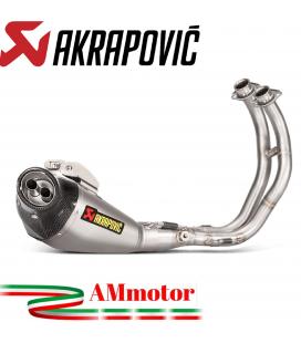 Akrapovic Yamaha Xsr 700 Impianto Di Scarico Completo Racing Line Terminale Titanio Moto