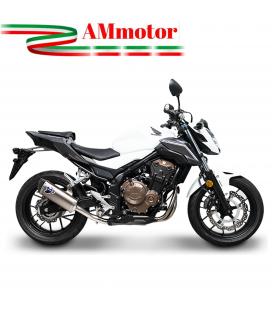 Terminale Di Scarico Termignoni Honda Cb 500 Marmitta Force Acciaio Titanio Moto Omologato