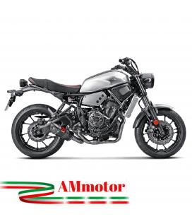 Akrapovic Yamaha Xsr 700 Impianto Di Scarico Completo Racing Line Terminale Carbonio Moto